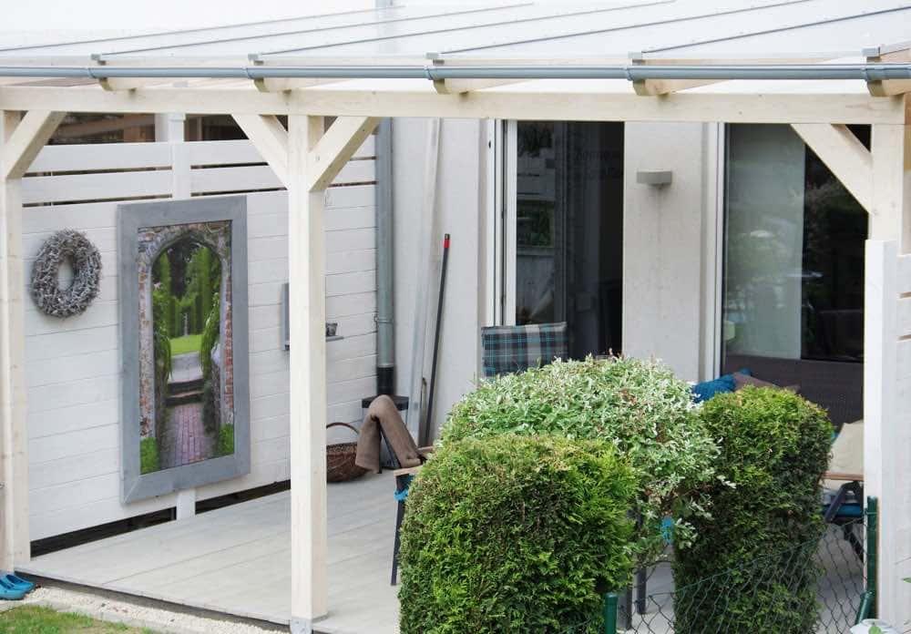 Terrassenüberdachung Überdachung Carport Leimholz Stegplatten 3x3m 300 x 300cm