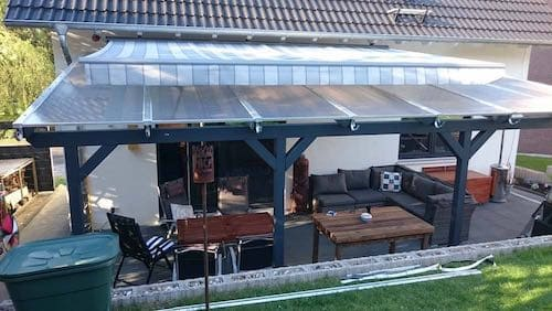 Terrassenuberdachung Aus Holz Eine Gute Wah