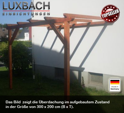 luxbach vordach terrassen berdachung carport kvh leimholz stegplatten. Black Bedroom Furniture Sets. Home Design Ideas